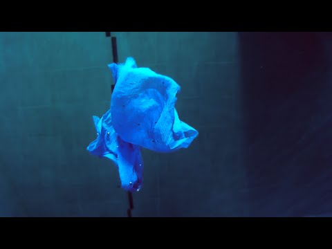 Underwater meditation with fabrics