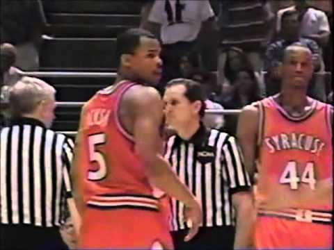 Syracuse infamous timeout vs Arkansas - 1995 NCAA Tournament - YouTube