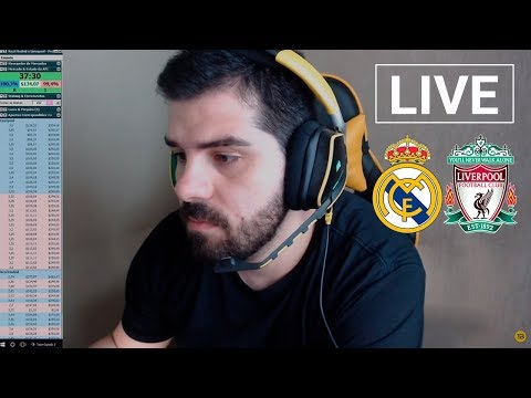 Real Madrid v Liverpool - Trading ao vivo (26/05)