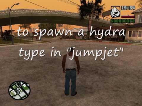 GTA SA Hydra jump jet