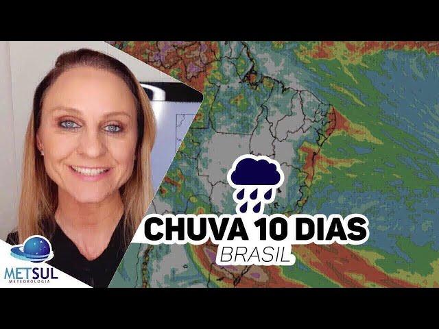 24/03/2020 - Previsão do tempo Brasil - Chuva 10 dias