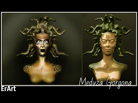 ErArt-Sculptris Alpha 6 Greek mythology Medusa Gorgon PART 2