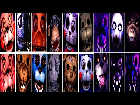 Five Nights at Candy's 1, 2, 3 All Jumpscares [WARNING!] | FNAC | IULITM