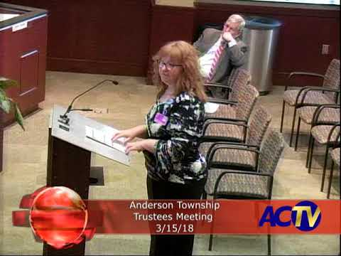 Anderson Township Trustees Meeting 3/15/18