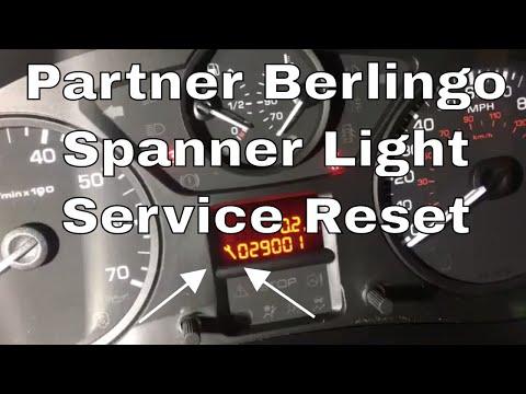 How To Reset The Service Indicator Light On A Peugeot Partner Citroen Berlingo HDi Spanner Light