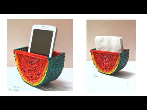 Newspaper DIY   Newspaper Mobile Holder   Handmade Tissue Paper Holder
