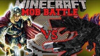 MOBZILLA VS THOR - Minecraft Mod Battle - Mob Battles - Superheroes Unlimited and OreSpawn Mods thumbnail
