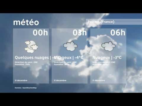 Météo Poitiers   samedi 31 décembre 2016