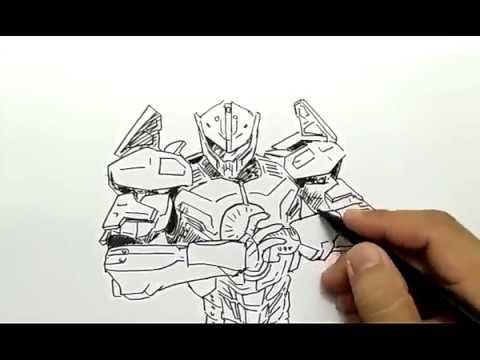 Cara Menggambar Robot Pasific Rim2 Dengan Mudah Dan Cepat Youtube