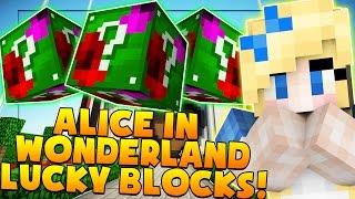 ALICE IN WONDERLAND LUCKY BLOCK MOD CHALLENGE | Minecraft - Lucky Block Mod