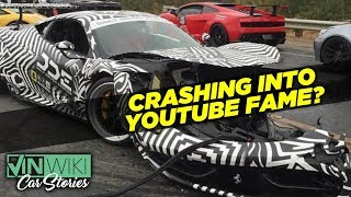 Is crashing a Ferrari the best way to launch a YouTube channel?