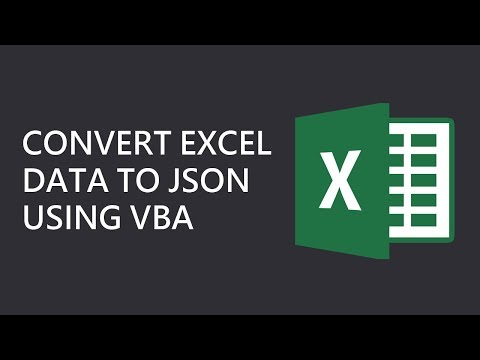 How to Convert Excel Data to JSON Using VBA