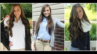 5 Uniform Outfit Ideas | Back to School #2