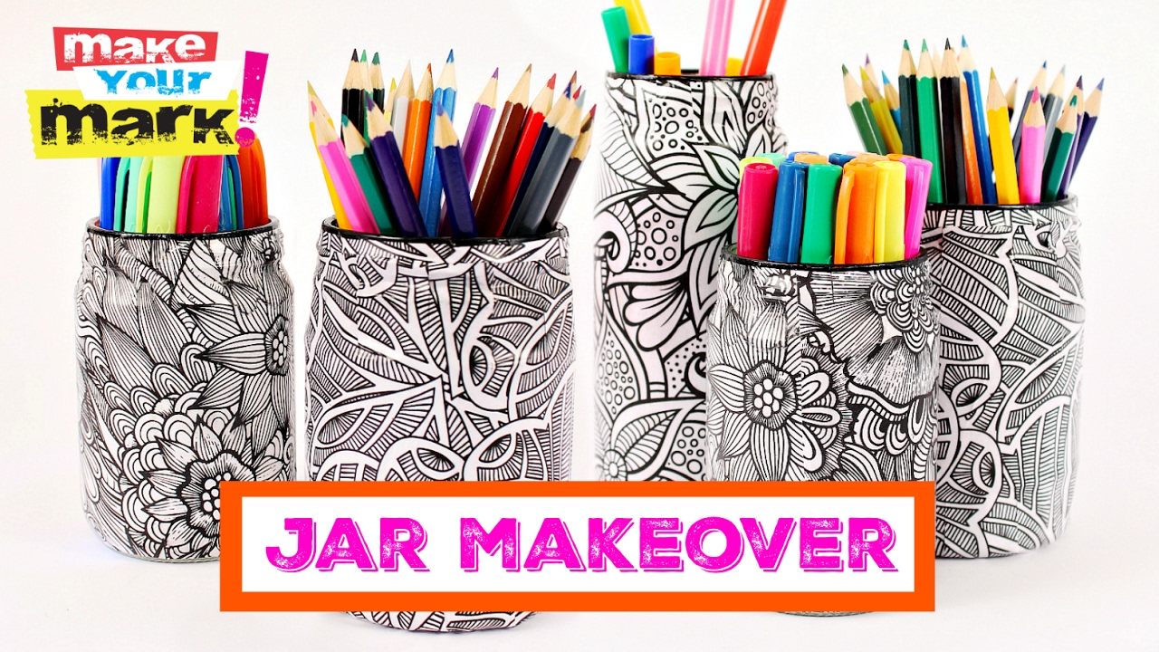 How To Coloring Book Jar Makeover