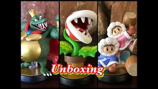 Unboxing:New Super Smash Bros Ultimate Amiibo for King K Rool, Piranha Plant and the Ice Climbers