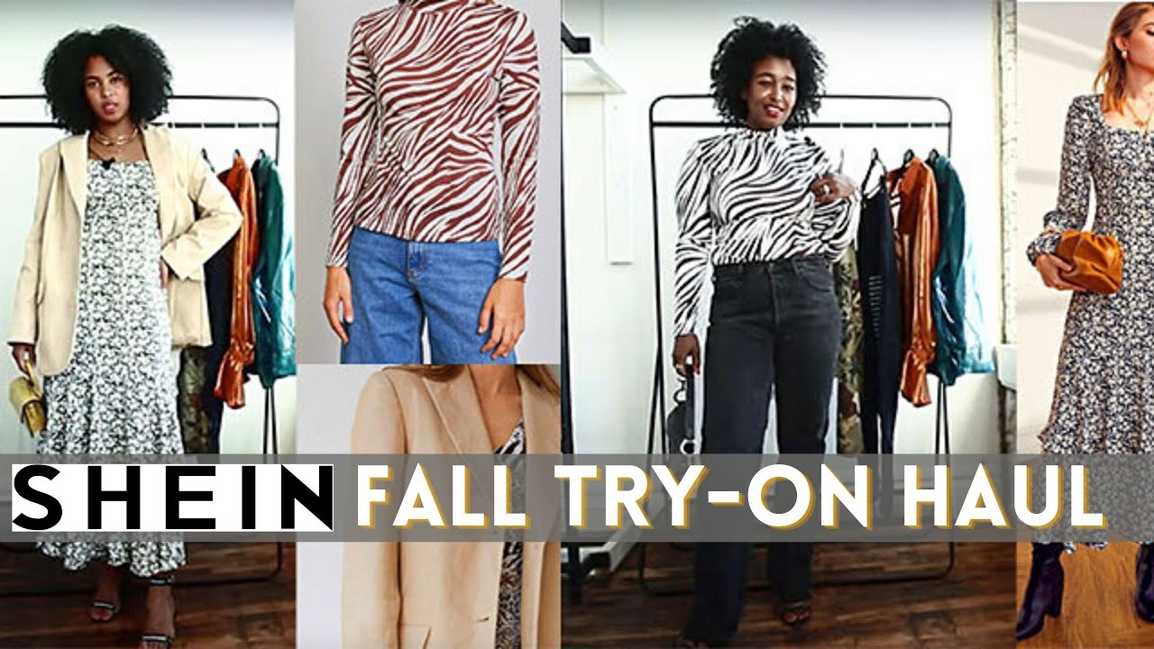 SHEIN TRY-ON HAUL   AFFORDABLE FALL TRENDY PIECES   THE YUSUFS