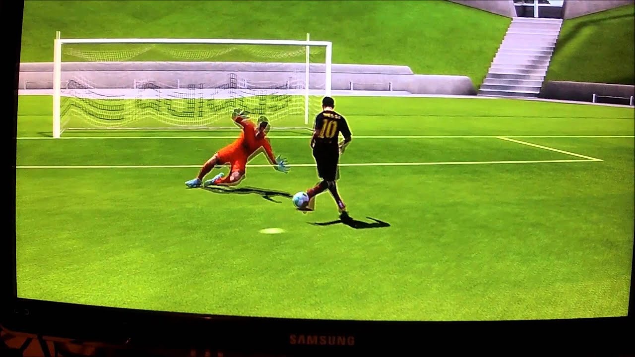 fifa 14 how to beat the keeper easy tutorial part