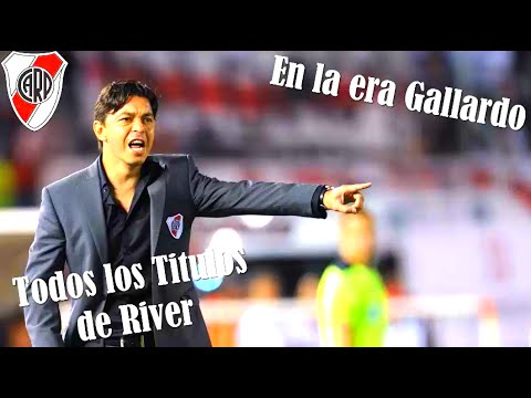 Todos los Titulos de Marcelo Gallardo en River