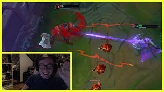TheBausffs Shows The Power of Unseen Sion to Rekkles - Best of LoL Streams #530 thumbnail