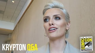 Wallis Day Krypton Roundtable Interview at Comic Con 2018