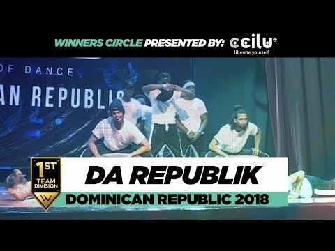 Da Republik | 1st Place Team Division | Winners Circle | World of Dance Dominican Republic 2018