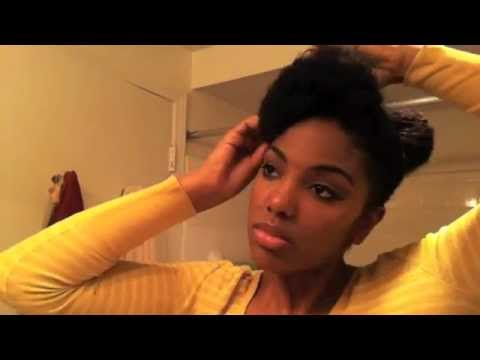 Easy Classy Natural Hairstyle Youtube