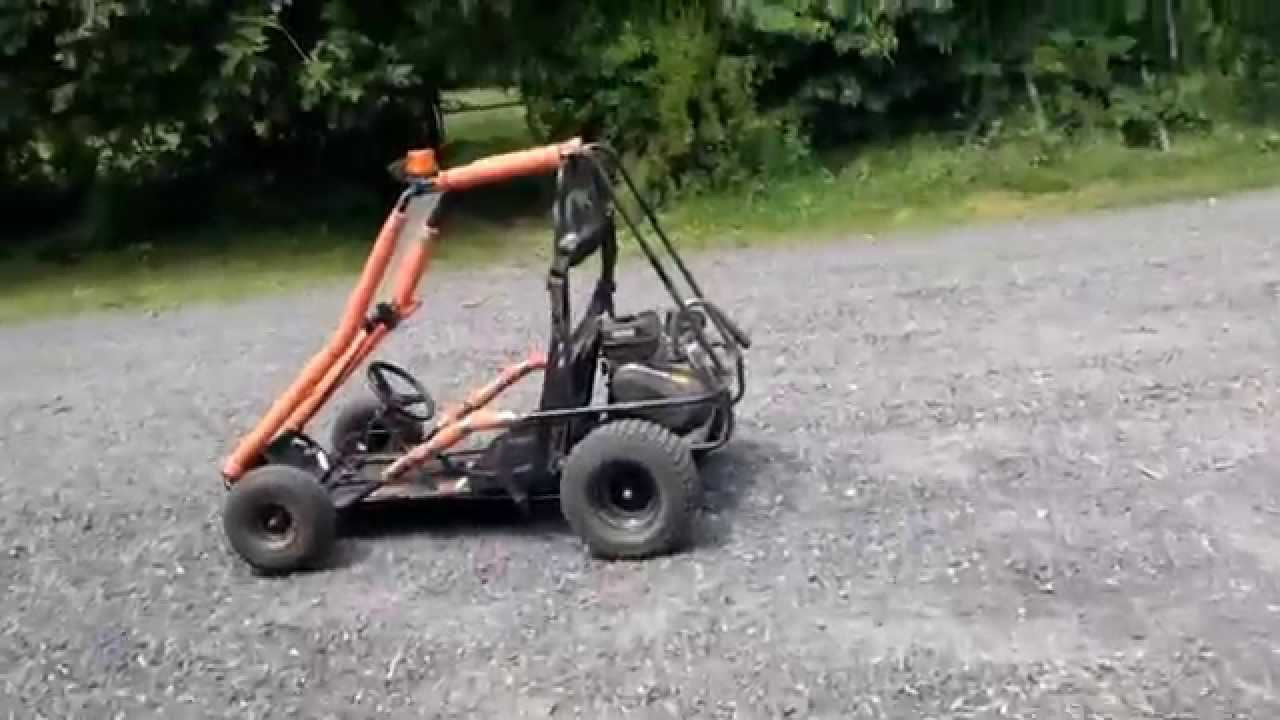 Manco 2 seater gokart with a predator 212cc engine - YouTube