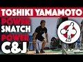 Toshiki Yamamoto (85) - 130kg Power Snatch X2 + 160kg Power Clean And Jerk (Apr 25th)