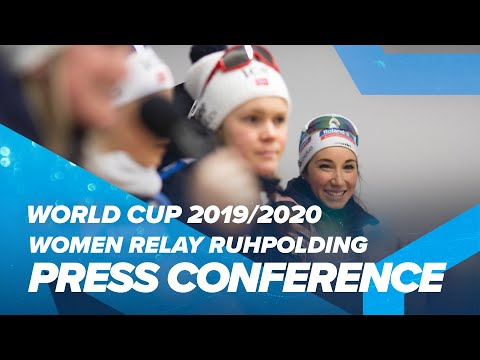 Ruhpolding Women Relay Press Conference