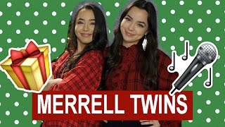 What I Want For Christmas - Merrell Twins (Lyrics Video)
