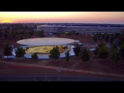 APPLE PARK: Late June 2017 -- A look inside Steve Jobs Theater