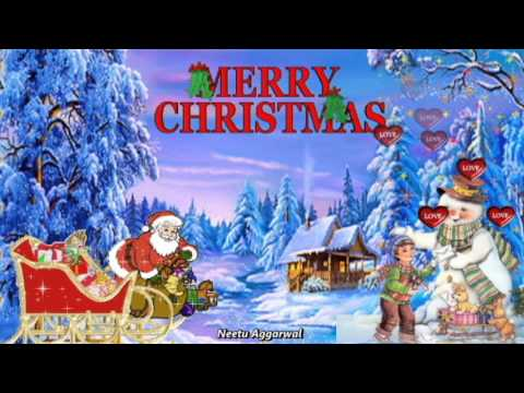 We Wish You A Merry Christmas & Happy New Year Wishes with beautiful Animated pics/song/lyrics ...