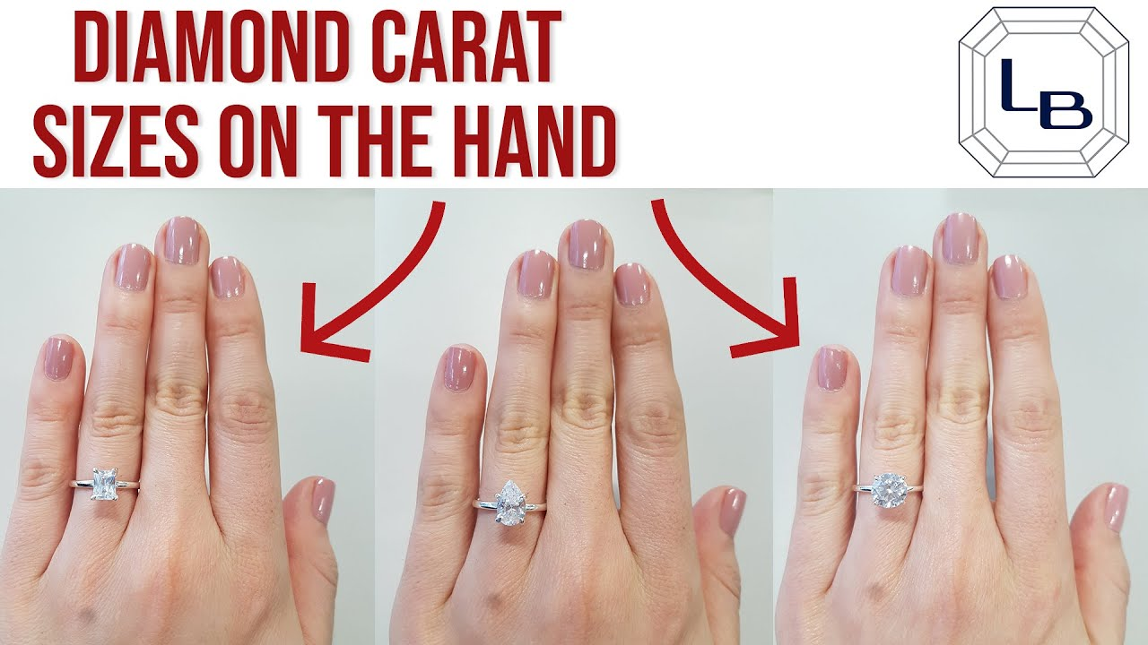 Every Diamond Shape and Carat Size Shown on the Hand and Finger