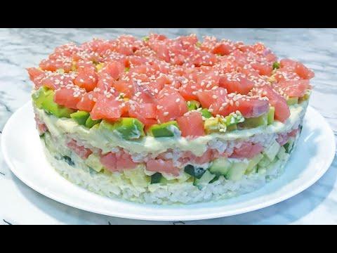 """Салат """"СУШИ"""" Неимоверно Вкусный и Очень Красивый / Ленивые Суши / Sushi Salad"""
