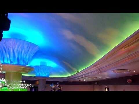 iluminacion domo leds rgb decorativa
