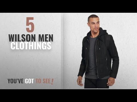 Top 10 Wilson Men Clothings [ Winter 2018 ]: Wilsons Leather Mens Vintage Hooded Genuine Leather