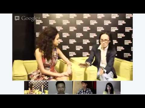 Google+ Hangout with Singaporean Veteran Designer Thomas Wee - #DigitalFashionWeek Singapore 2012