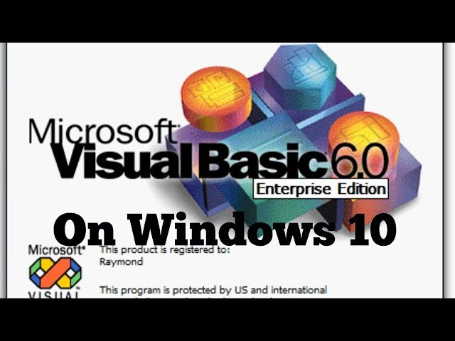 How to Install Virtual Studio/Basic(6.0) on Windows 10
