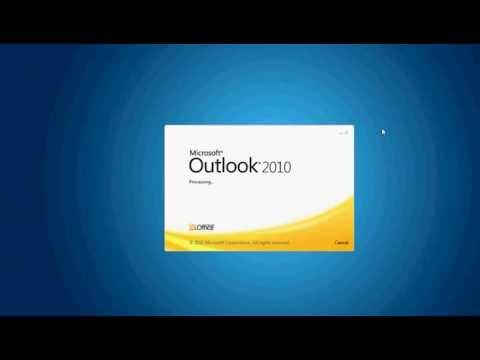 Hướng dẫn cài đặt email vào Outlook 2010 - Lần đầu sử dụng