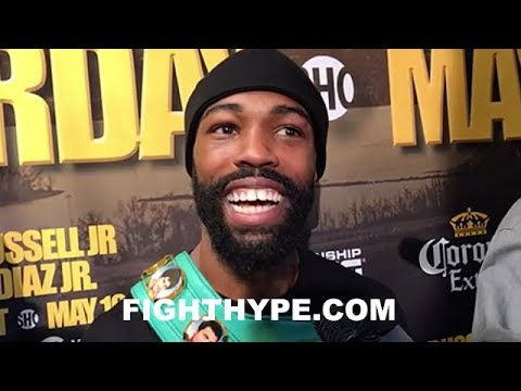 GARY RUSSELL JR. IMMEDIATELY AFTER JOSEPH DIAZ JR. WIN; GIVES SPANISH MESSAGE AND RATES PERFORMANCE