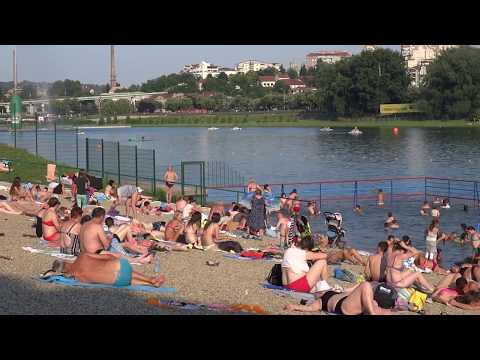 Beach of Ada Ciganlija - Belgrade, Serbia