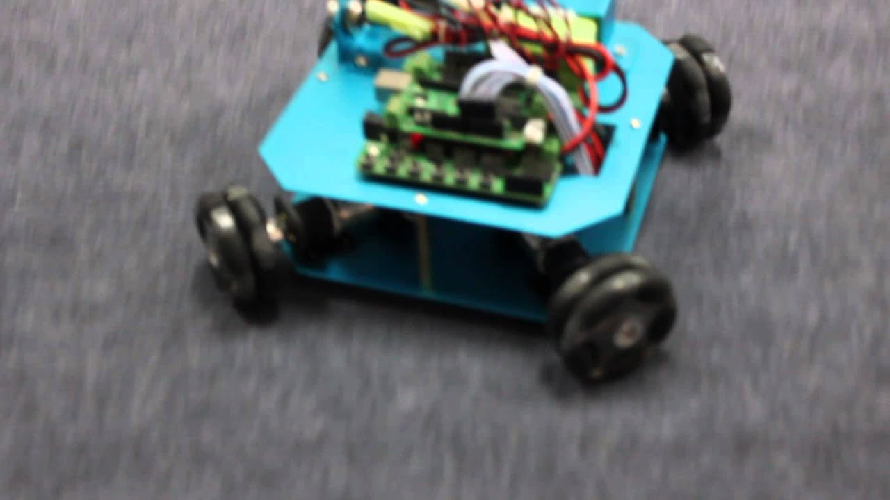 Wd mm omni wheel arduino robot kit youtube