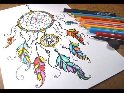 Desenhando Filtro Dos Sonhos Speed Drawing Youtube