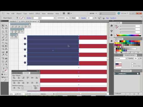Adobe Illustrator CS5 Tutorial 27 | American Flag