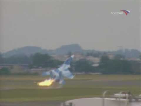 Su-30MKI crash at Paris Air Show Le Bourget 1999