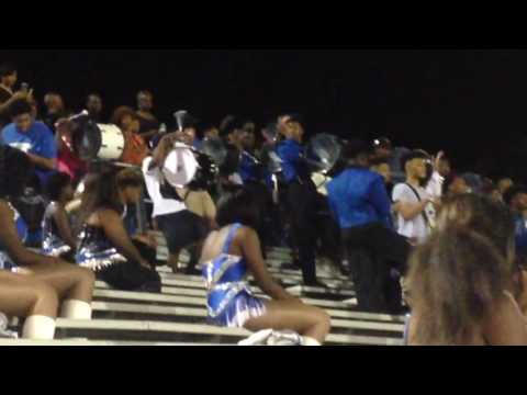 """Murrah High School """"Sounds of Perfection"""" ICT Drumline with the Alumni at 2016 Homecoming"""
