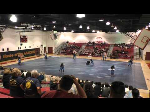 Downey High School Varsity - Color Guard - Arcadia High School (Sorry for the shaky video)