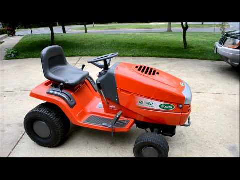 Restoring A Scotts Riding Lawn Mower Tractor PART 1 YouTube