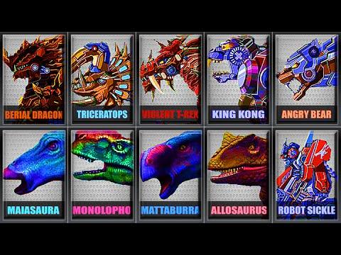 Robot Berial Dragon + Robot Triceratops + Dino Hunter AR SERIES REGION 2 - Full Game Play 1080 HD