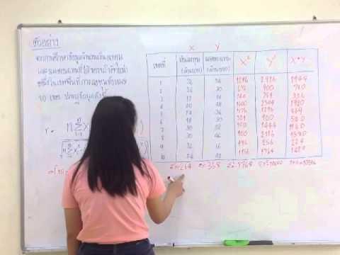 วิชาสถิติ บทที่5 การวิเคราะห์การถดถอยและสหสัมพันธ์